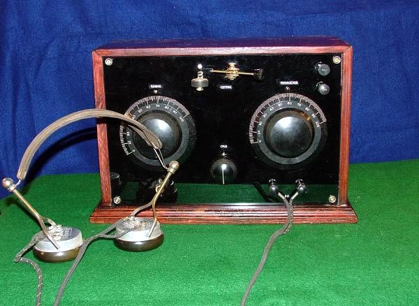 Ca. 1919 Galena Crystal Radio. Excellent variable coupled crystal radio with a wave-trap.  Also incorporates a fixed detector for those not wanting to look for the Hot Spot on the crystal.  Excellent sensitivity and selectivity.SOLD TO GEORGE IN RUSSIA