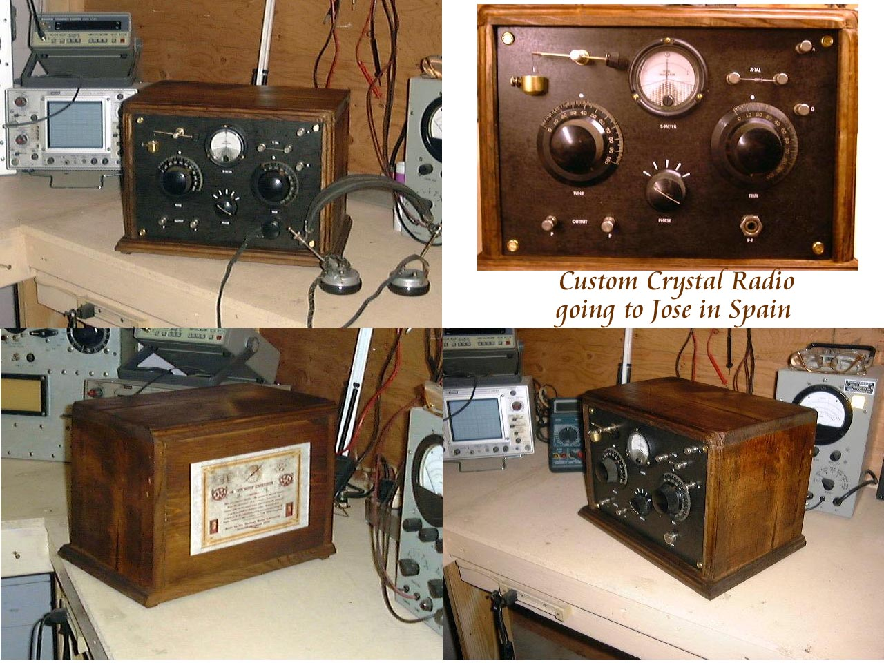 Grandpa's Favorite, Crystal Radio,Custom Build for Jose in Spain, By Airwave Explorer,SOLD