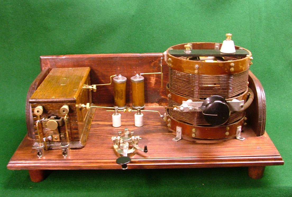 An example of the spark gap transmitters I have built over the years--Not for Sale